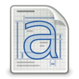 Free Application Font Pcf Icon - png, ico and icns formats for Windows, Mac OS X and Linux