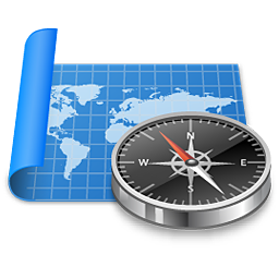 Free Map Compass Icon - png, ico and icns formats for Windows, Mac