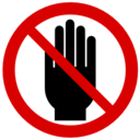 Free Pictograms Aem Do Not Put Hand In This Area Icon Png Ico And Icns Formats For Windows Mac Os X And Linux