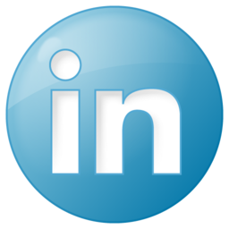 Social linkedin button blue icon 256x256